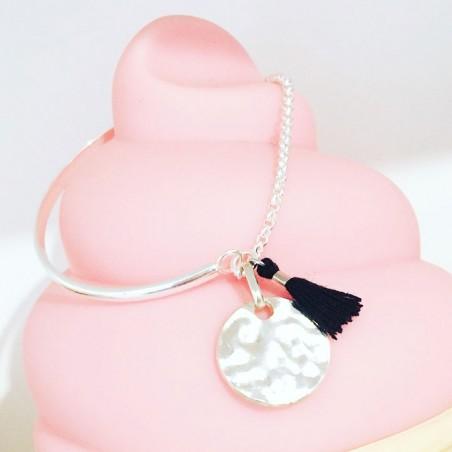 Bracelet Plaque Rectangle Noir