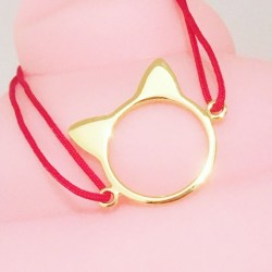 Bracelet Cat Color Plaqué or