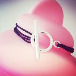 Bracelet Mini Cercle Rose pâle