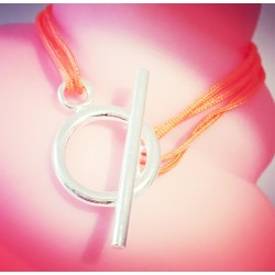 Bracelet Crazy heart Orange flashy