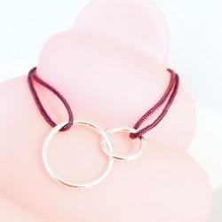 Bracelet Round Bubble Rouge