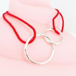 Bracelet Double Circle Color