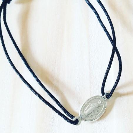 Bracelet Mini Round Bubble Plaqué or Bleu marine