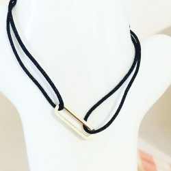 Bracelet Soleillade Noir Plaqué or