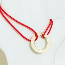 Bracelet Madonne Rouge Plaqué or