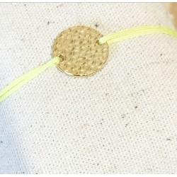 Bracelet Plaque martelée...