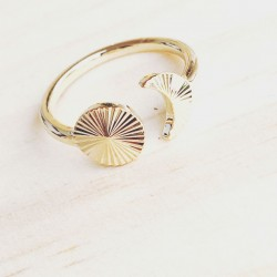 Bague Moon and Circle...