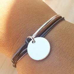 Bracelet Rectangle martelée Plaqué or