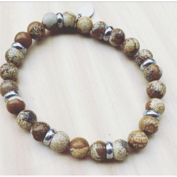 Bracelet For Him Jaspe marron