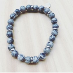Bracelet For Him Jaspe gris