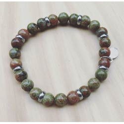 Bracelet For Him Unakite