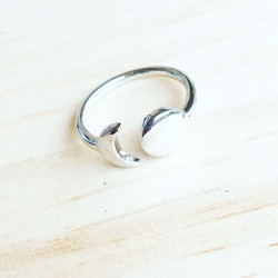 Bague Moon and Circle