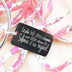 Jonc Acier Plaque Message...