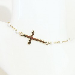 Bracelet Cross Plaqué or