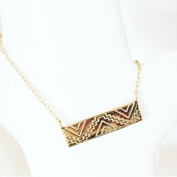 Collier Rectangle Inca...
