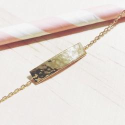 Bracelet Rectangle martelée...