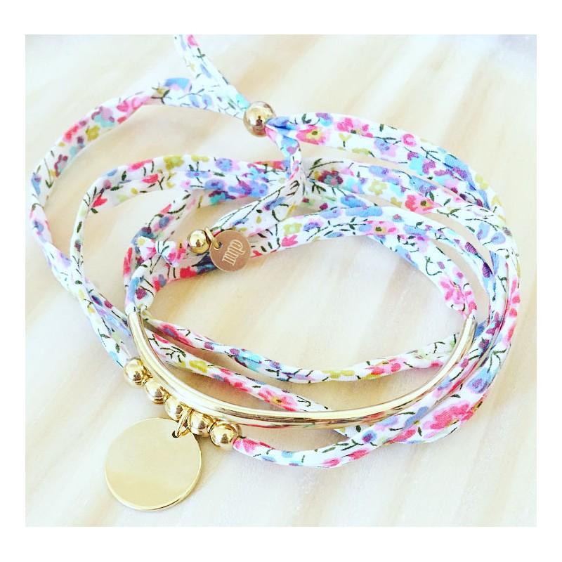 Bracelet Halfy Bubble Rose Silver